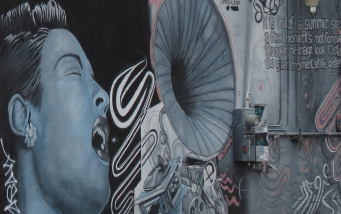 Tour phoenix 39 s roosevelt row murals and artists 39 district for Billie holiday mural