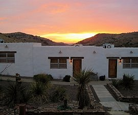 Sunrise at Indian Lodge in Fort Davis part of a west Texas road trip (photo by Sheila Scarborough)