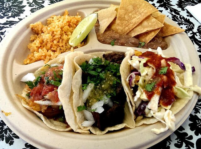 Tacos at Pinches Tacos Downtown Container Park Las Vegas (photo by Sheila Scarborough)