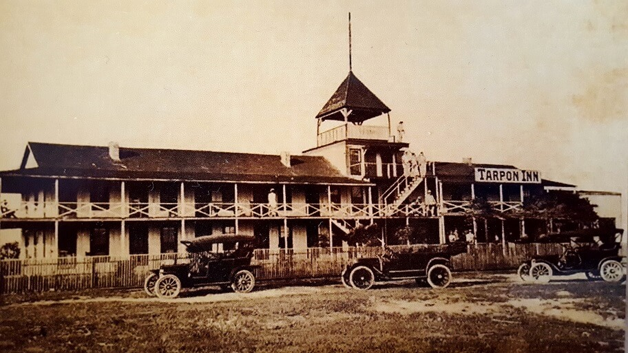 Tarpon Inn Port Aransas Texas in the 1920s photo postcard