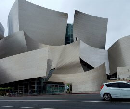 Spending 3 days in Los Angeles? See the Frank Gehry-designed Walt Disney Concert Hall in downtown LA (photo by Sheila Scarborough)