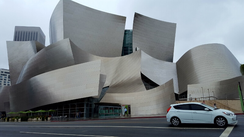 The Frank Gehry-designed Walt Disney Concert Hall in downtown Los Angeles (photo by Sheila Scarborough)