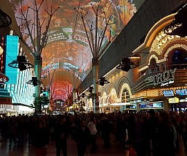 Don't like Las Vegas but do like the Fremont Street pedestrian area in old downtown Las Vegas, away from the Strip (photo by Sheila Scarborough)