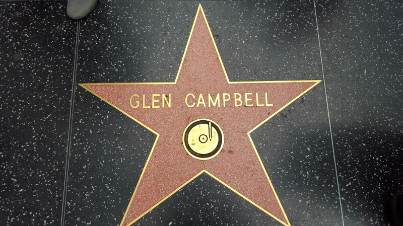 The Glen Campbell star on the Hollywood Walk of Fame (photo by Sheila Scarborough)