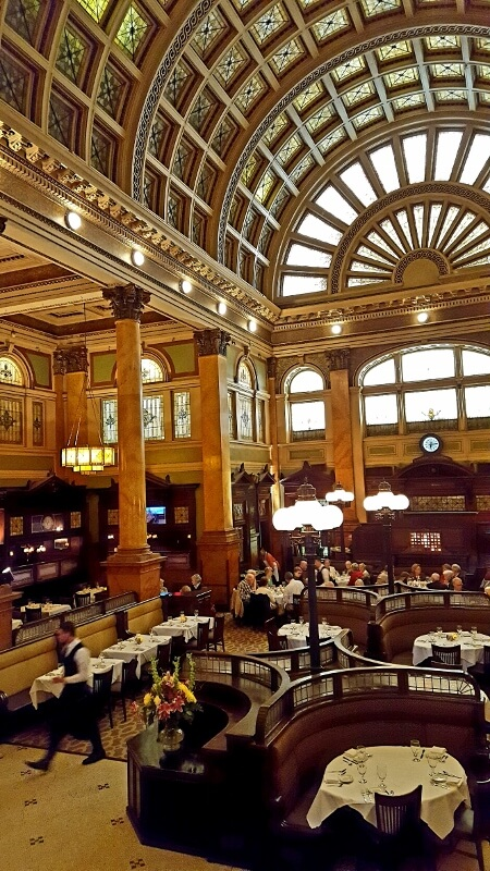The Grand Concourse restaurant former 1901 railway station in Pittsburgh PA (photo by Sheila Scarborough)
