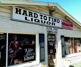That thing you can't get anywhere else - Choc Beer at the Hard to Find Liquor store in Ardmore Oklahoma (photo by Sheila Scarborough)