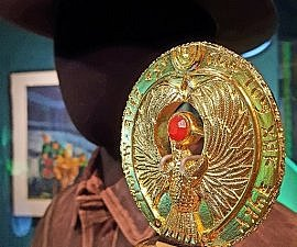 The Headpiece to the Staff of Ra from Raiders of the Lost Ark at MoPOP in Seattle (photo by Sheila Scarborough)
