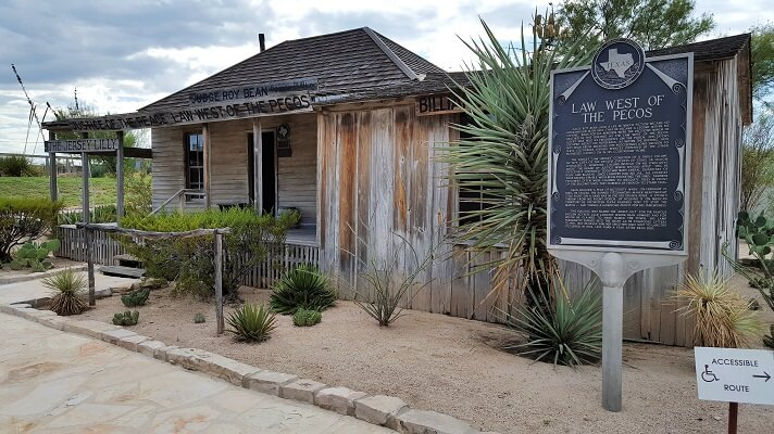 The Jersey Lilly and Judge Roy Bean in Langtry TX (photo by Sheila Scarborough)