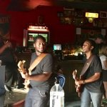 The Peterson Brothers work the floor at Continental Club Austin (photo courtesy Chris Fancher)