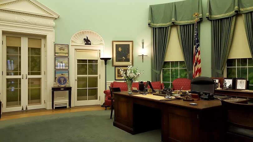 The Truman Oval Office re-created at Truman Library Independence MO (photo by Sheila Scarborough)