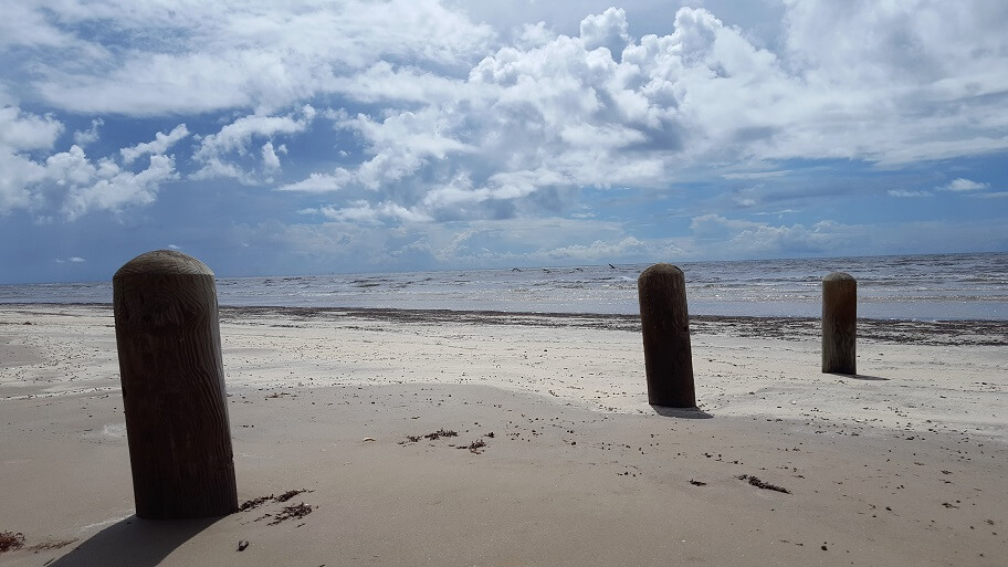 The beach at Sea Rim State Park near Port Arthur TX (photo by Sheila Scarborough)