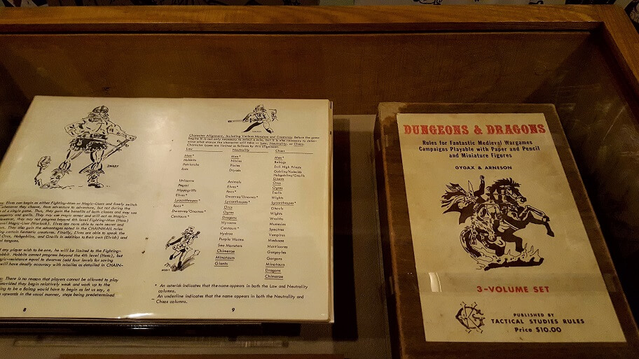 The fantasy role-playing game Dungeons and Dragons released in 1974 at MoPOP in Seattle (photo by Sheila Scarborough)