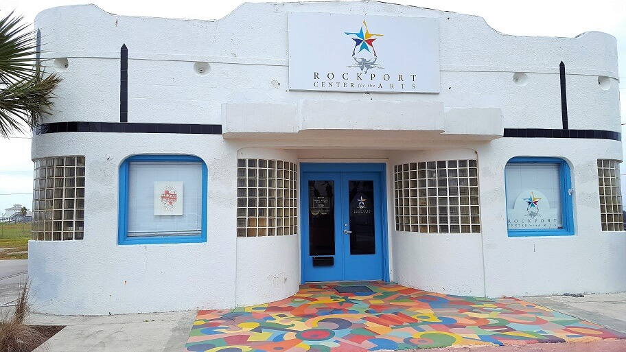 The new Rockport Center for the Arts on 106 South Austin Street as of early 2018 (photo by Sheila Scarborough)