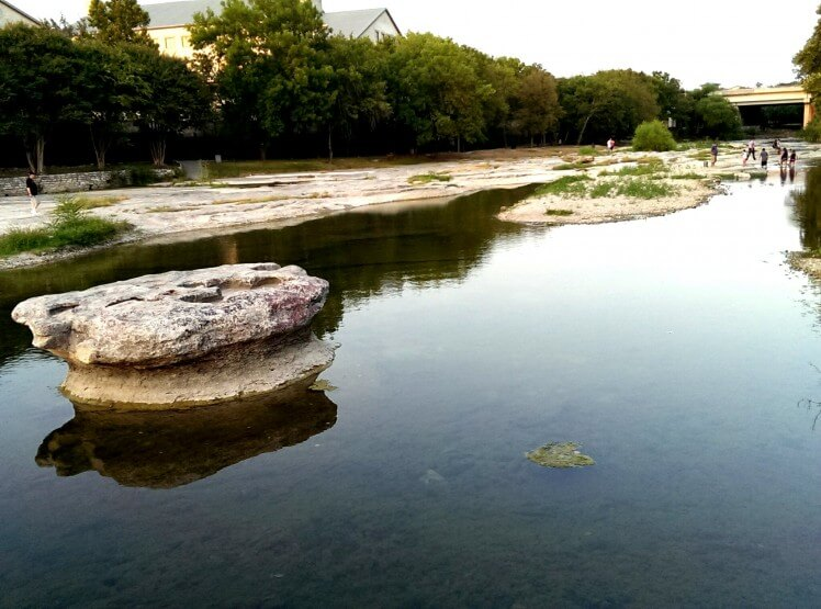 The round rock in Brushy Creek in Round Rock TX