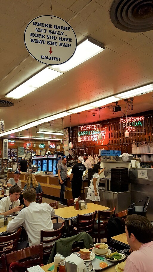 The table from Harry Met Sally movie scene Katz's Deli New York (photo by Sheila Scarborough)