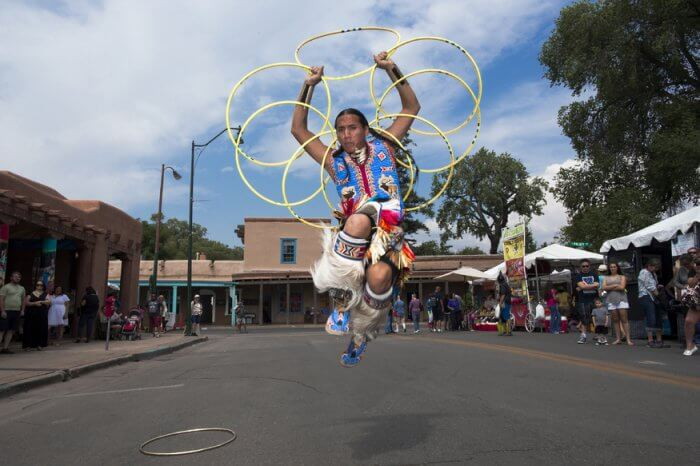 Santa Fe Plaza Tony Duncan hoop dancer by T Collins
