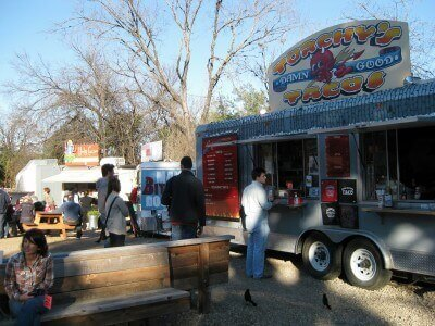 Food trailer eats at South Austin Trailer Park and Eatery (photo by Sheila Scarborough)