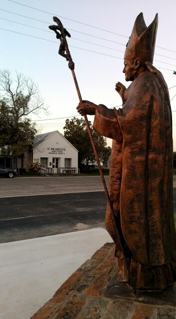 Tribute to the Polish Pope John Paul II in honor of his visit to Panna Maria, Texas (photo by Sheila Scarborough)