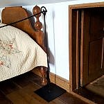 Upstairs bedroom crawl space Levi and Catharine Coffin home Fountain City Indiana Underground Railroad (photo by Sheila Scarborough)