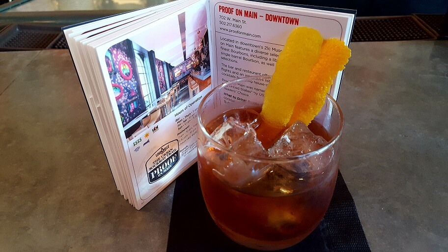 Urban Bourbon Trail cocktail at Proof on Main in 21c Hotel Louisville KY (photo by Sheila Scarborough)
