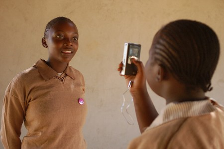 Using a Flip video camera in Kenya (courtesy whiteafrican on Flickr CC)