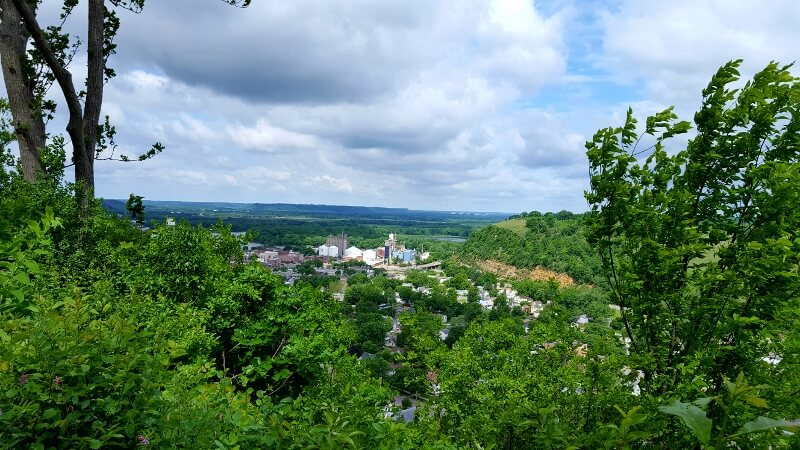 View from Sorin's Bluff in Memorial Park, Red Wing MN (photo by Sheila Scarborough)