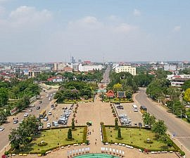 View of Vientiane from Patuxai