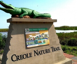 Visitor info on Louisiana's Creole Nature Trail (photo by Sheila Scarborough)