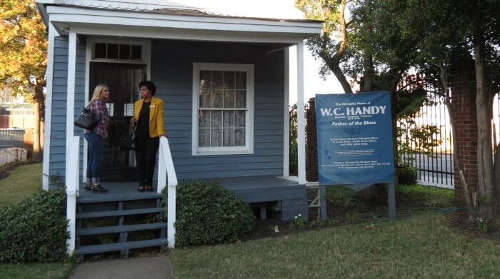 The WC Handy House off Beale Street in Memphis