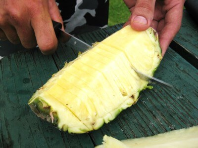 food in hawaii a photo essay after a waimea canyon hike in kauai some fresh pineapple photo by sheila scarborough
