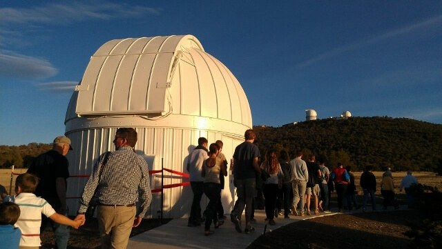 Walking up to the public astronomy program at McDonald Observatory Fort Davis Texas (photo by Sheila Scarborough)