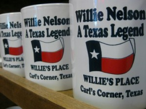 Willie's Place at Carl's Corner souvenir mugs (photo by Sheila Scarborough)