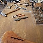Work bench at Wright Cycle Shop Dayton OH (photo by Sheila Scarborough)