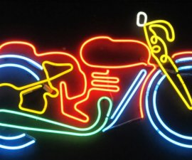 Neon sign at the Barber Motorsports Museum near Birmingham, Alabama