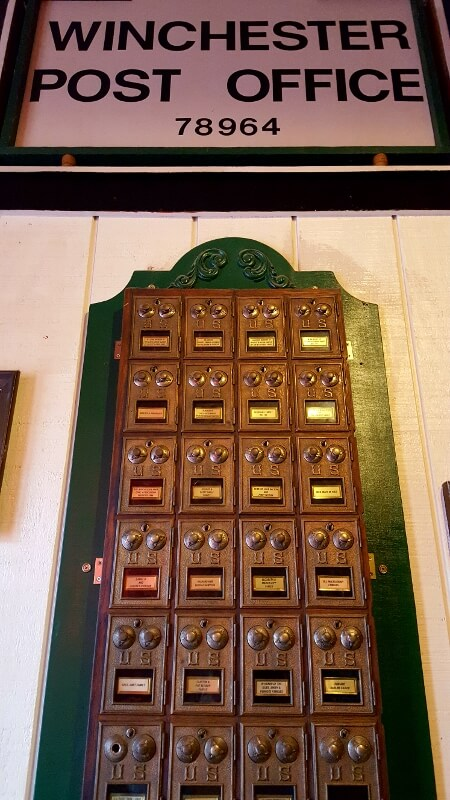 You can still pick up your mail at the post boxes inside Murphy's Steakhouse (photo by Sheila Scarborough)