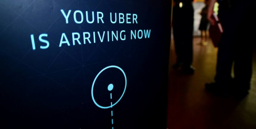 Using Uber for the first time your Uber is arriving (courtesy Rico Marcelo for Uber on Facebook)
