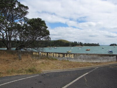 John Lennon Graffiti On Waiheke Island New Zealand