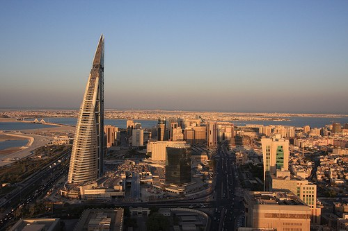The changing skyline in Manama, the capital (courtesy Pricey at flic