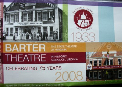 The Barter Theatre 2008 program guide (courtesy Joanne Scarborough)