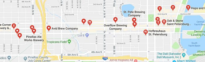 Breweries in Downtown St. Pete Tampa Bay