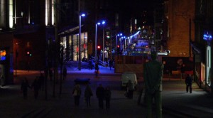 buchanan street glasgow night