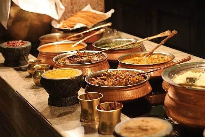 indian food buffet curry