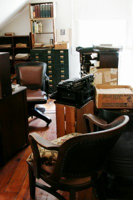 Author Carl Sandburg's upstairs work area at Connemara, Flat Rock NC (photo by Sheila Scarborough)