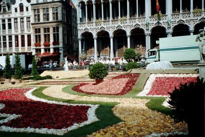 Every other August, the Brussels Grand Place flower carpet (Scarborough photo)