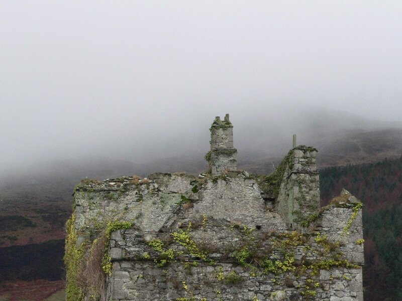 castle in mist Ireland Louth