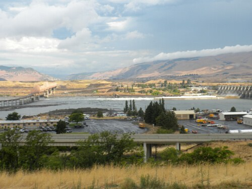 View from Celilo Inn, The Dalles, Oregon