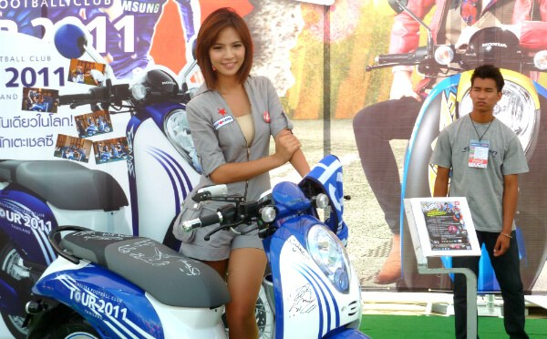 Chelsea Motorbike and Model