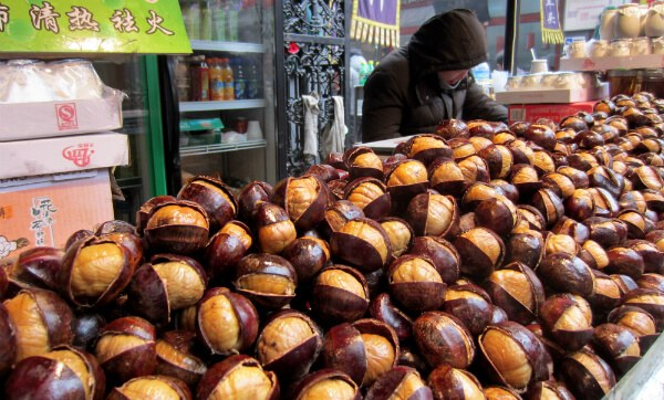 Chestnuts at Wangfujing Snack Street