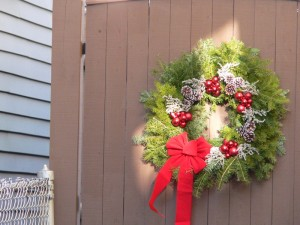christmas wreath copyright kerry dexter
