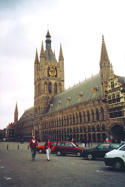 Cloth Hall and Grote Markt, Ieper (Ypres) Belgium (photo courtesy Joanne Scarborough)